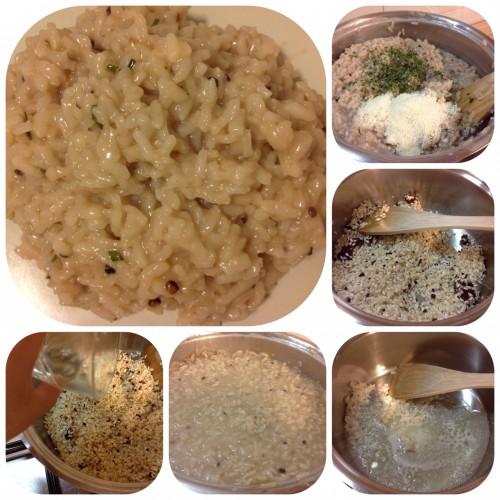 frutti di bosco,risotti,erba cipollina,riso,parmigiano